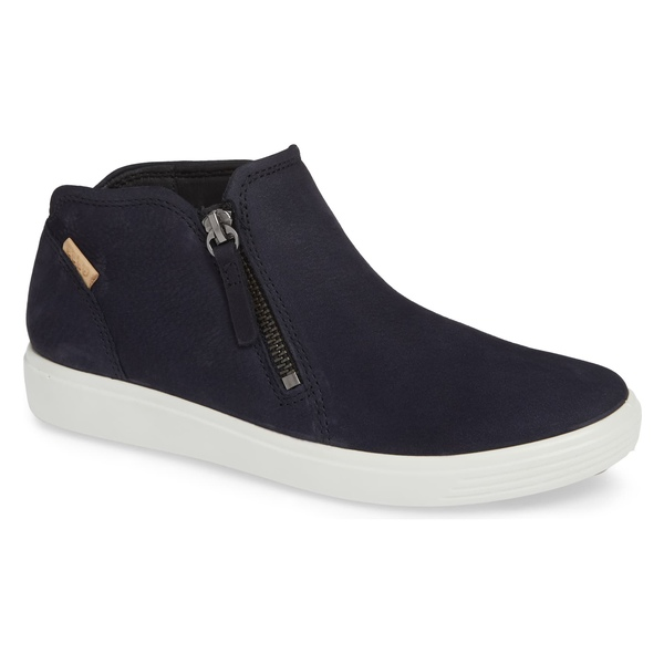 エコー レディース スニーカー シューズ ECCO Soft 7 Mid Top Sneaker (Women) Night Sky Nubuck Leather