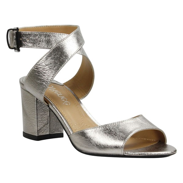 ジェイレニー レディース サンダル シューズ J. Rene Drizella Ankle Strap Sandal (Women) Taupe Metallic Leather