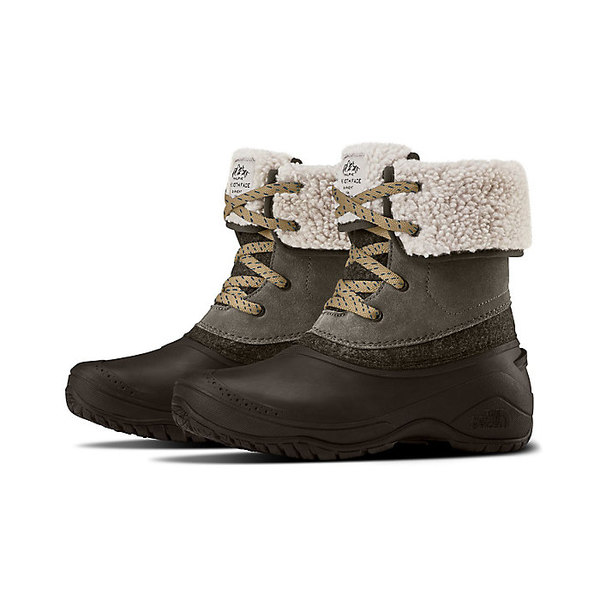 ノースフェイス レディース ブーツ&レインブーツ シューズ The North Face Women's Shellista II Roll Down Boot Caribou / Demitasse Brown