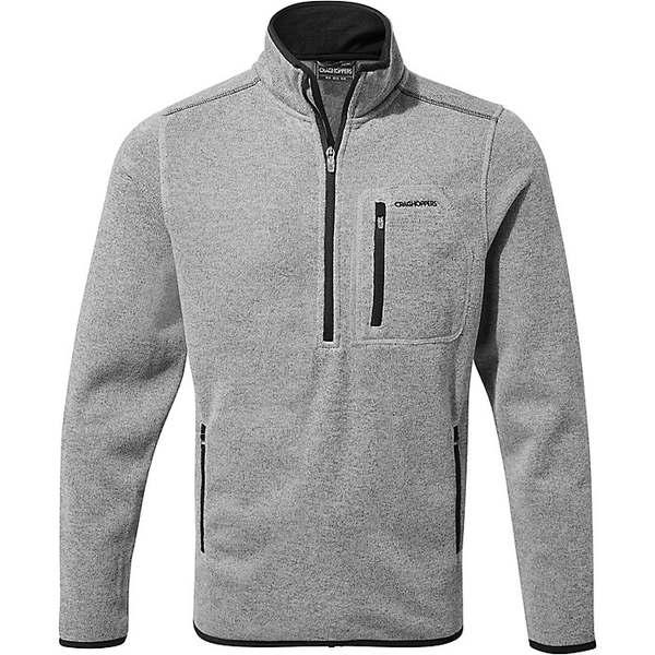 クラッグホッパーズ メンズ シャツ トップス Cragshoppers Men's Etna Half Zip Soft Grey Ml