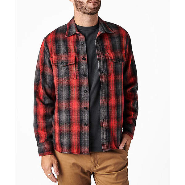アーボー メンズ シャツ トップス Arbor Men's Good Times Heavyweight Flannel Shirt Red