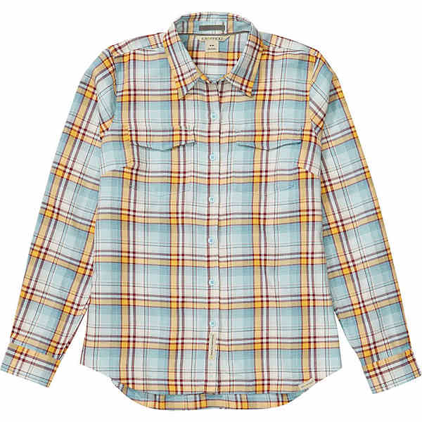 エクスオフィシオ レディース シャツ トップス ExOfficio Women's Madison Midweight Flannel LS Shirt Corydalis Blue