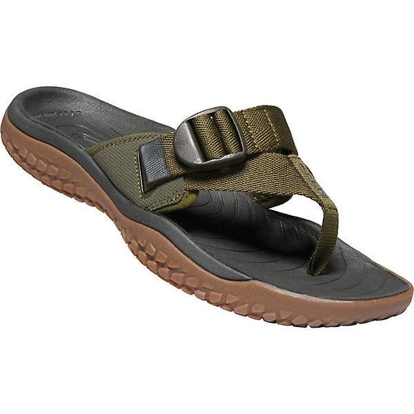キーン メンズ サンダル シューズ KEEN Men's Solr Toe Post Sandal Dark Olive