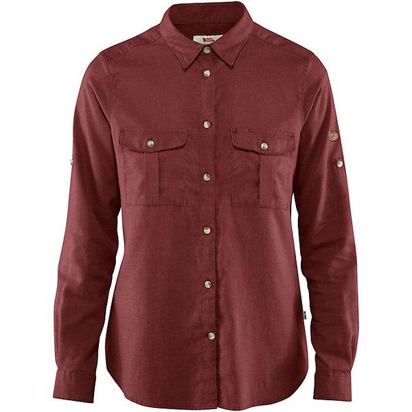 フェールラーベン レディース シャツ トップス Fjallraven Women's Ovik Travel LS Shirt Raspberry Red