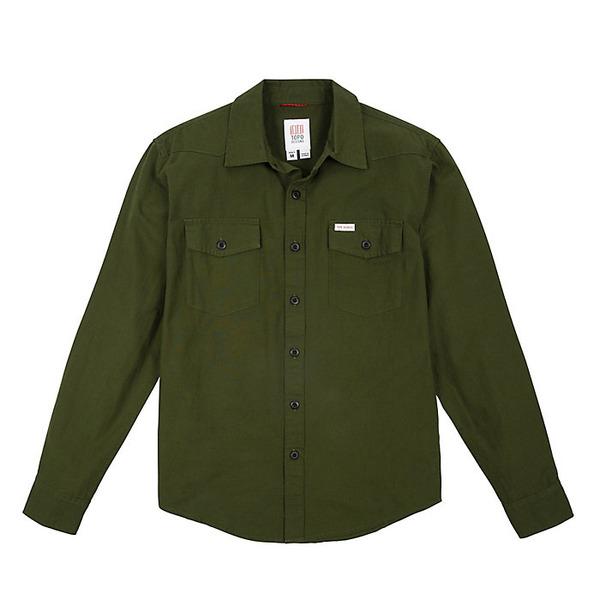 トポ・デザイン メンズ シャツ トップス Topo Designs Men's Mountain Lightweight Shirt Olive