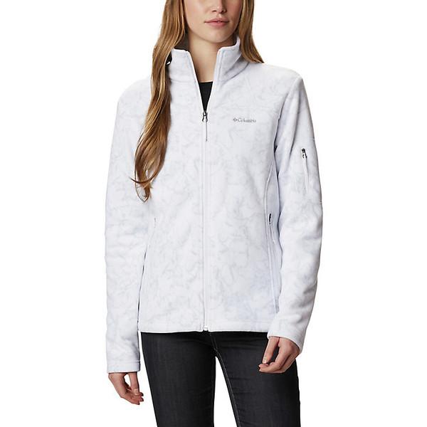 コロンビア レディース ジャケット&ブルゾン アウター Columbia Women's Fast Trek Printed Jacket White Brushstroke Floral