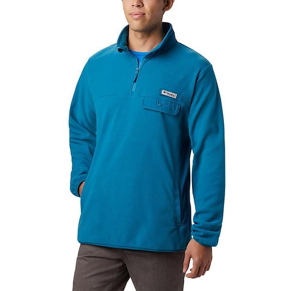 コロンビア メンズ ジャケット&ブルゾン アウター Columbia Men's Harborside II Fleece Pullover Dark Turquoise