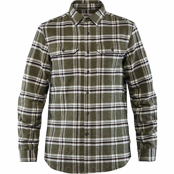 フェールラーベン メンズ シャツ トップス Fjallraven Men's Ovik Heavy Flannel Shirt Deep Forest