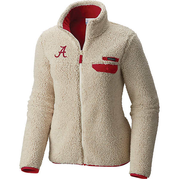 コロンビア レディース ジャケット&ブルゾン アウター Columbia Women's Collegiate Mountain Side Heavyweight Fleece Jacket Ala - Chalk / Red Velvet