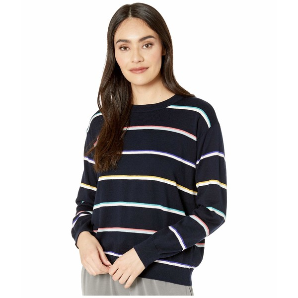 スプレンディット レディース ニット&セーター アウター Fleet Sweater Navy Multi Stripe
