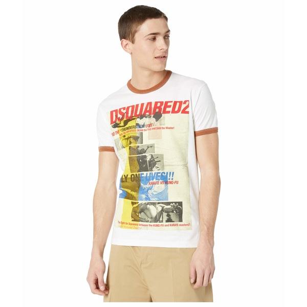 ディースクエアード メンズ シャツ トップス Only One Lives T-Shirt White/Hazelnut