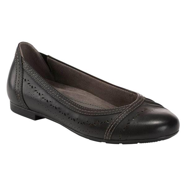 アース レディース サンダル シューズ Earth Vista Nova Flat (Women) Black Leather