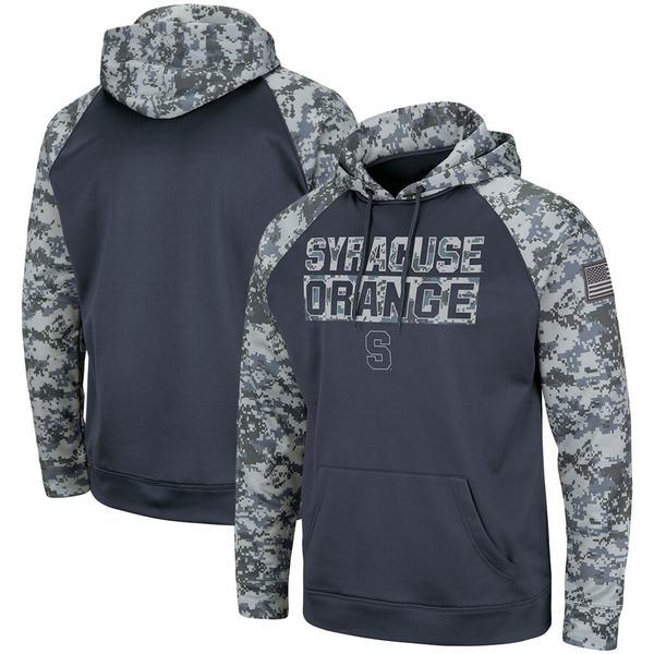 コロシアム メンズ パーカー・スウェットシャツ アウター Syracuse Orange Colosseum Big & Tall OHT Military Appreciation Digi Camo Raglan Pullover Hoodie Charcoal/Camo