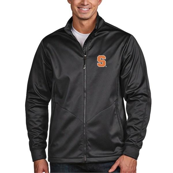アンティグア メンズ ジャケット&ブルゾン アウター Syracuse Orange Antigua Golf Full-Zip Jacket Charcoal