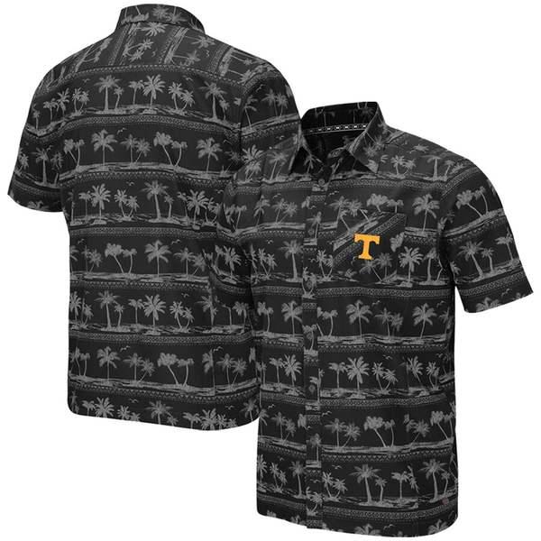 コロシアム メンズ シャツ トップス Tennessee Volunteers Colosseum Big & Tall Hilo Camp Button-Up Shirt Black