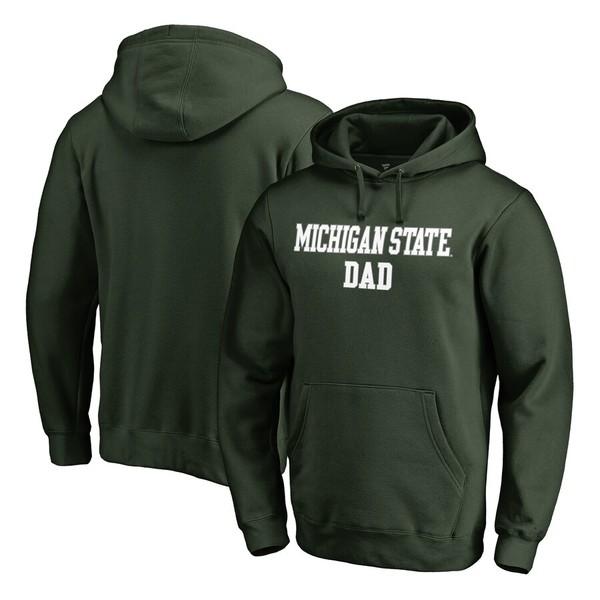 ファナティクス メンズ パーカー・スウェットシャツ アウター Michigan State Spartans Fanatics Branded Big & Tall Team Dad Pullover Hoodie Green