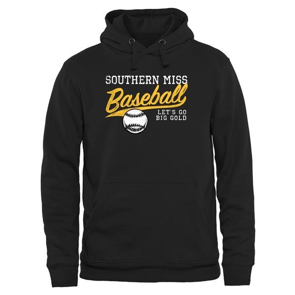 ファナティクス メンズ パーカー・スウェットシャツ アウター Southern Miss Golden Eagles Ballpark Pullover Hoodie Black