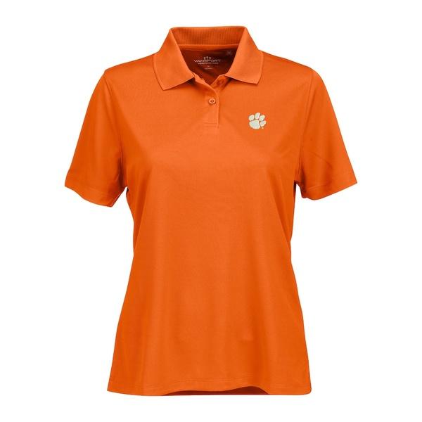 ビンテージアパレル レディース ポロシャツ トップス Clemson Tigers Women's Vansport Omega Plus Size Tech Polo Orange