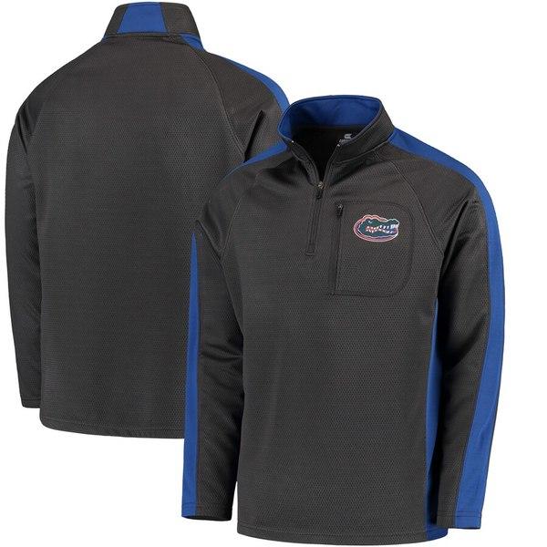 コロシアム メンズ ジャケット&ブルゾン アウター Florida Gators Colosseum Defender Quarter-Zip Pullover Jacket Charcoal
