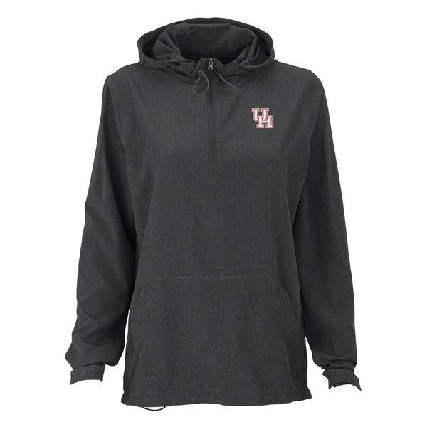 ビンテージアパレル レディース ジャケット&ブルゾン アウター Houston Cougars Women's Pullover Stretch Anorak Jacket Charcoal