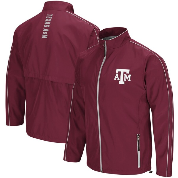 コロシアム メンズ ジャケット&ブルゾン アウター Texas A&M Aggies Colosseum Big & Tall Barrier Full-Zip Wind Jacket Maroon