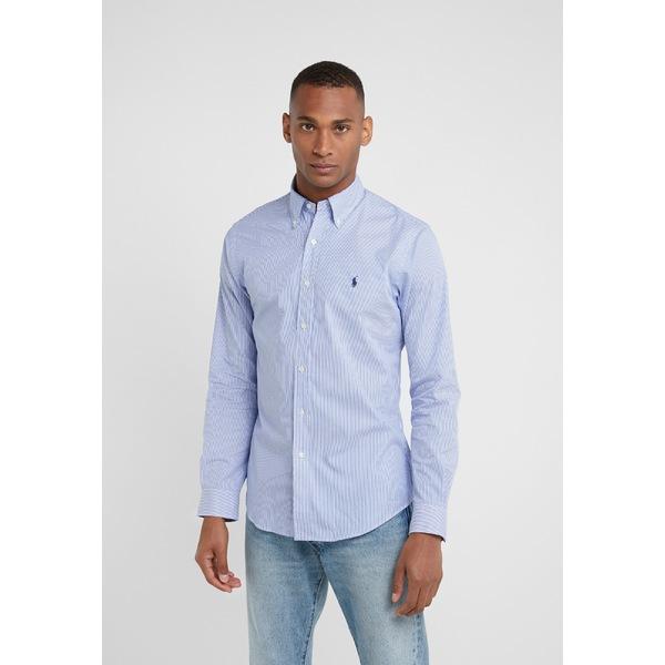 ラルフローレン メンズ トップス シャツ blue white 商店 全商品無料サイズ交換 SLIM xnip008e Shirt NATURAL - FIT 買物