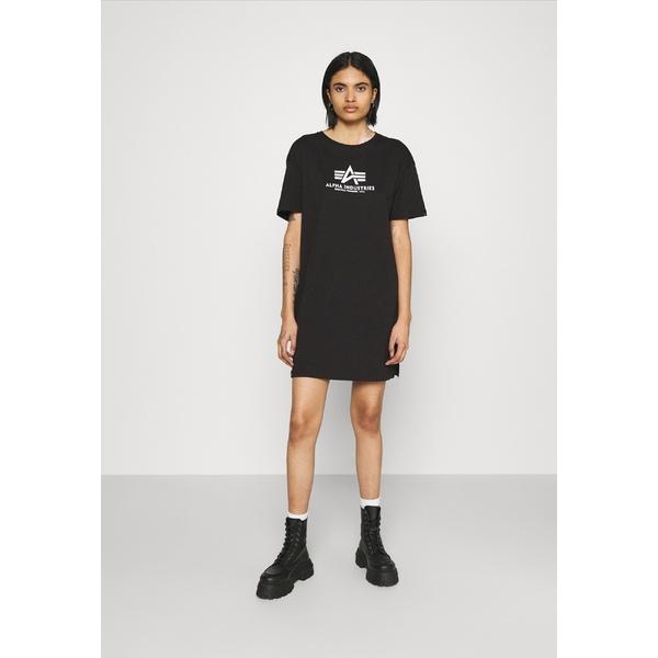 アルファインダストリーズ レディース トップス ワンピース black 全商品無料サイズ交換 LONG - 今だけ限定15%OFFクーポン発行中 送料無料 激安 お買い得 キ゛フト BASIC xnip0090 Jersey dress