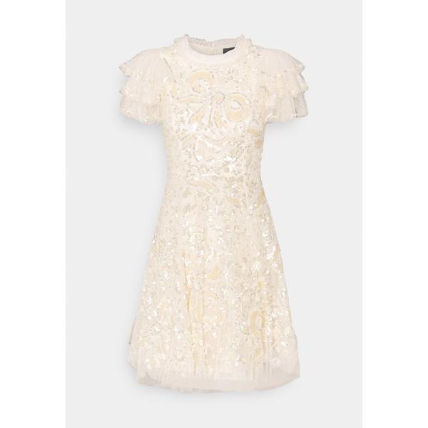 - dress MINI DRESS SHIRLEY dress トップス Cocktail xnip0092 - ワンピース / champagne レディース Party RIBBON ニードルアンドスレッド