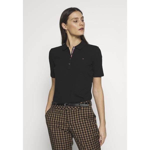 トミー ヒルフィガー レディース トップス ポロシャツ black 全商品無料サイズ交換 - 贈答 海外限定 shirt TH Polo ESSENTIAL POLO xnip0095