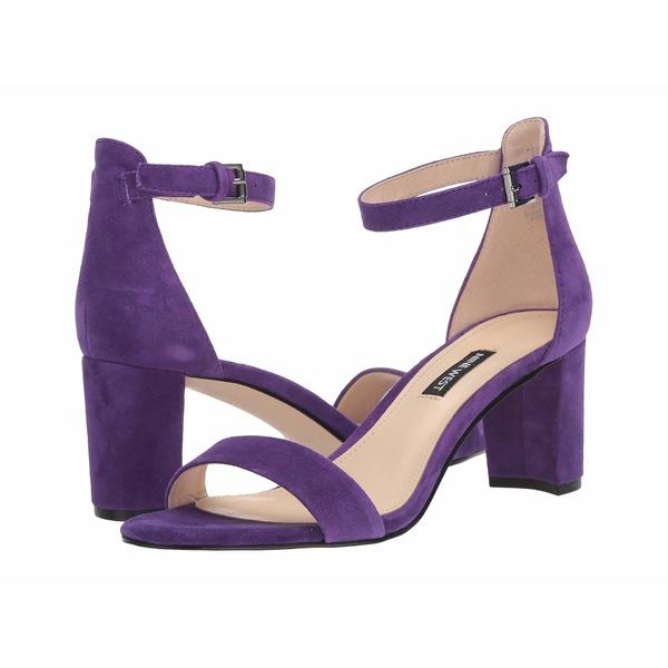 ナインウェスト レディース ヒール シューズ Pruce Block Heel Sandal Purple