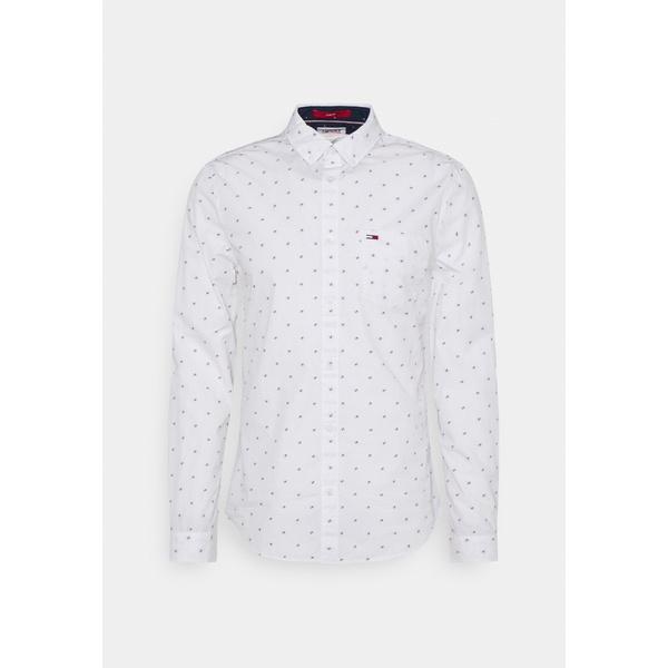 トミーヒルフィガー メンズ トップス シャツ white Shirt 新作からSALEアイテム等お得な商品満載 全商品無料サイズ交換 驚きの値段で - DOBBY xnro012f