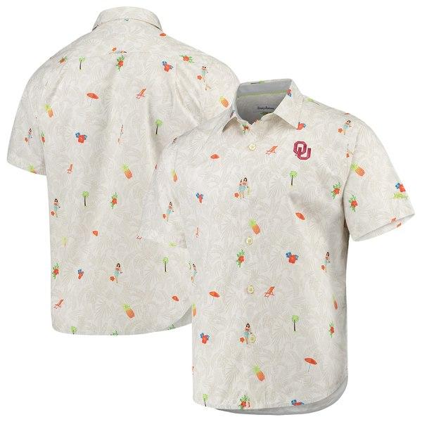 トッミーバハマ メンズ シャツ トップス Oklahoma Sooners Tommy Bahama College BeachCation ButtonUp Shirt White