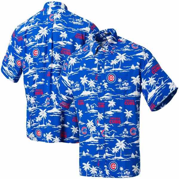 レインスプーナー メンズ シャツ トップス Chicago Cubs Reyn Spooner Vintage ButtonUp Shirt Royal/Red