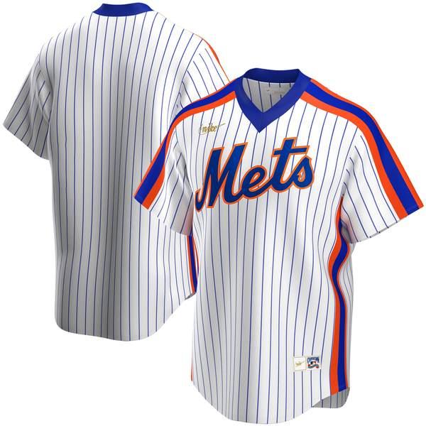 ナイキ メンズ ユニフォーム トップス New York Mets Nike Home Cooperstown Collection Team Jersey White