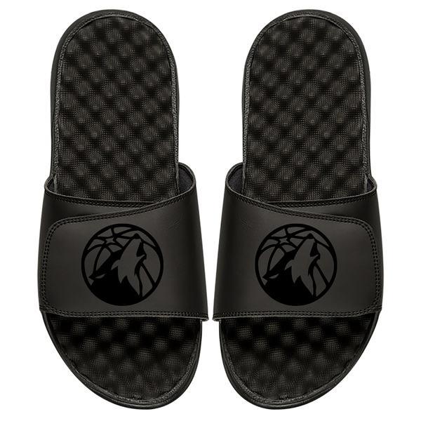 アイスライド メンズ サンダル シューズ Minnesota Timberwolves ISlide Tonal Slide Sandals Black