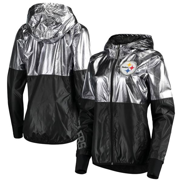 カールバンクス レディース ジャケット&ブルゾン アウター Pittsburgh Steelers GIII 4Her by Carl Banks Women's Scrimmage FullZip Jacket Pewter
