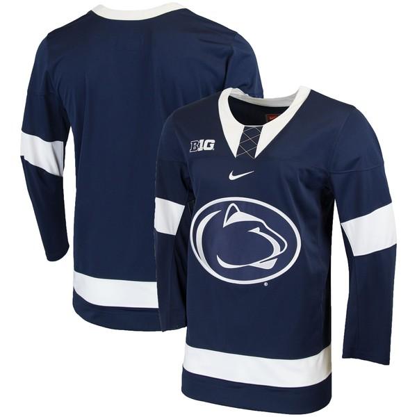 ナイキ メンズ ユニフォーム トップス Penn State Nittany Lions Nike Replica College Hockey Jersey Navy