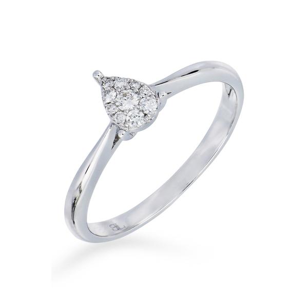 ボニー レヴィ レディース 大幅にプライスダウン アクセサリー リング 18K WHITE GOLD 全商品無料サイズ交換 Diamond Ring 2020春夏新作 0.11 Gold - Pear ctw Cluster White