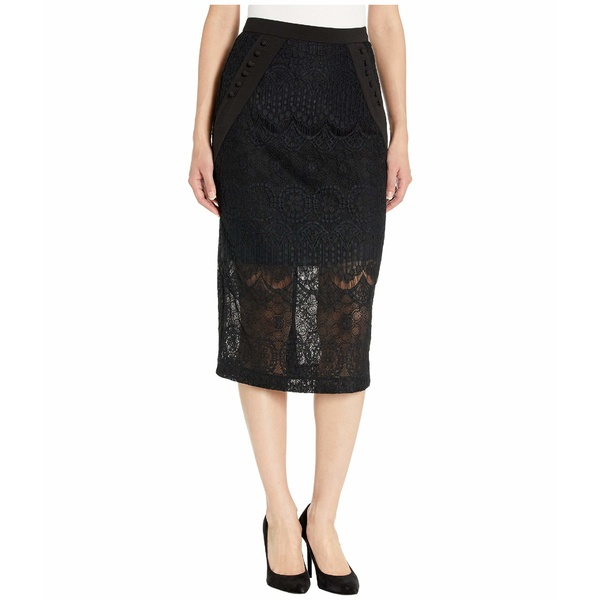 ビーシービージーマックスアズリア レディース スカート ボトムス Lace Midi Skirt Black