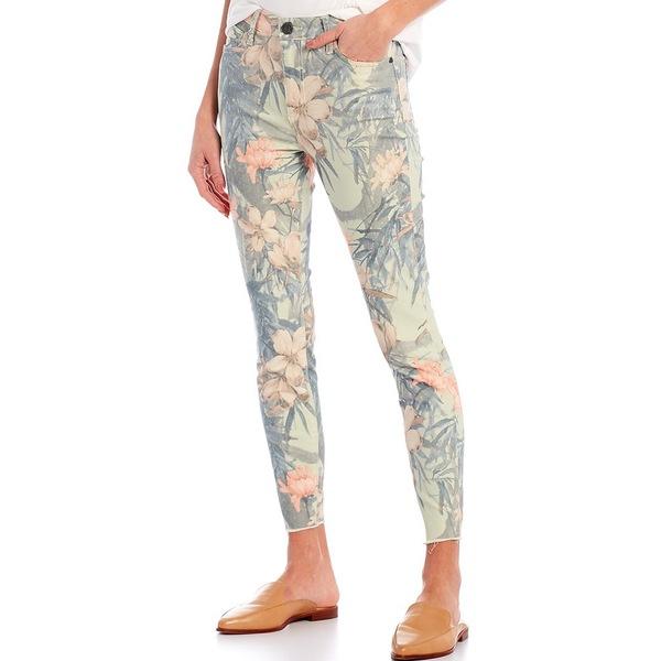 カットフロムザクロス レディース デニムパンツ ボトムス Donna Floral Print High Rise Raw Hem Skinny Ankle Jeans Rose/Sage