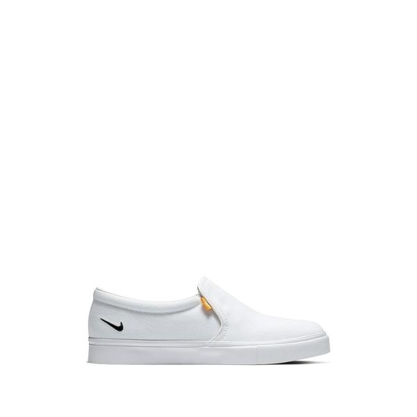 ナイキ レディース シューズ スニーカー AL完売しました。 100 WHITE BLACK Slip-On 優先配送 全商品無料サイズ交換 Royale Court Sneaker AC