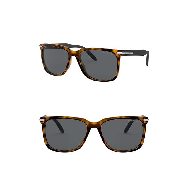 マイケルコース メンズ アクセサリー サングラス アイウェア DARK 全商品無料サイズ交換 Square TORT 上等 Sunglasses 物品 58mm