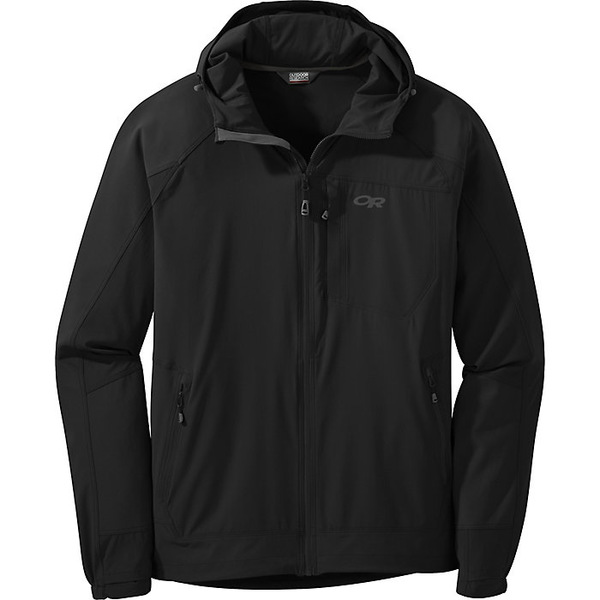 アウトドアリサーチ メンズ ジャケット&ブルゾン アウター Outdoor Research Men's Ferrosi Hooded Jacket Black
