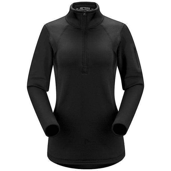 アークテリクス レディース フィットネス スポーツ Arcteryx Women's RHO AR Zip Neck Black