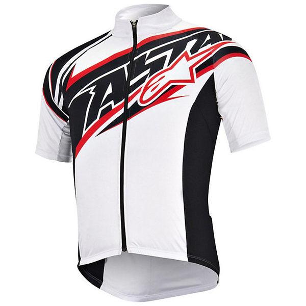 アルパインスターズ メンズ サイクリング スポーツ Alpine Stars Men's Nemesis Team SS Jersey White / Black / Red