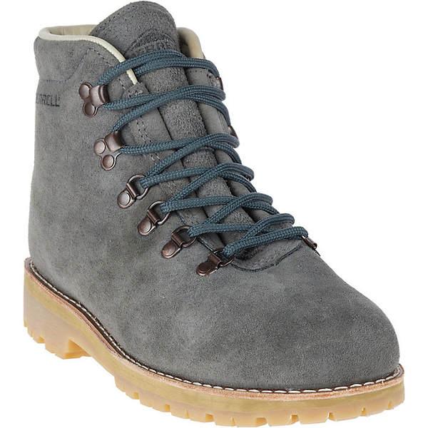 メレル メンズ ハイキング スポーツ Merrell Men's Wilderness USA Suede Boot Steel Grey