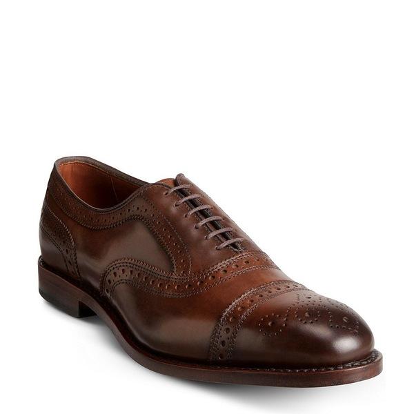 アレンエドモンズ ギフ_包装 メンズ シューズ ドレスシューズ Cigar 全商品無料サイズ交換 爆売り Dress Strand Cap-Toe Oxfords Leather