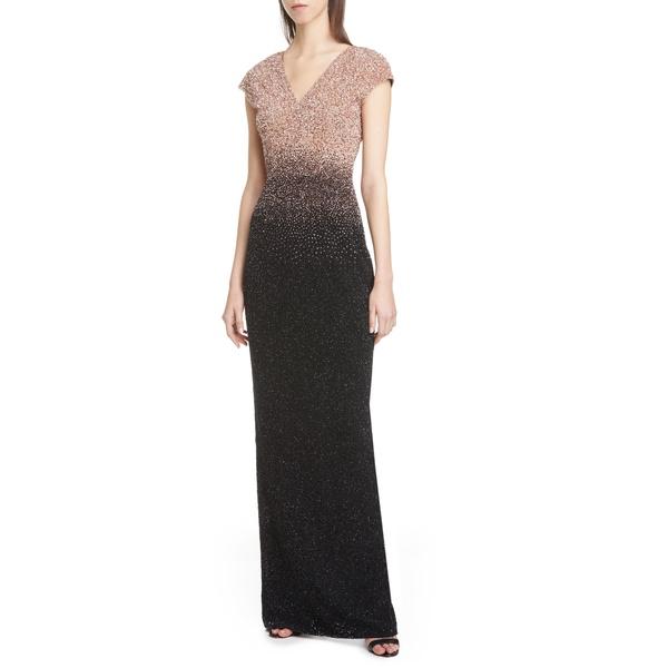 パメラ ローランド レディース ワンピース トップス DegradSequin Column Gown Gold/ Black