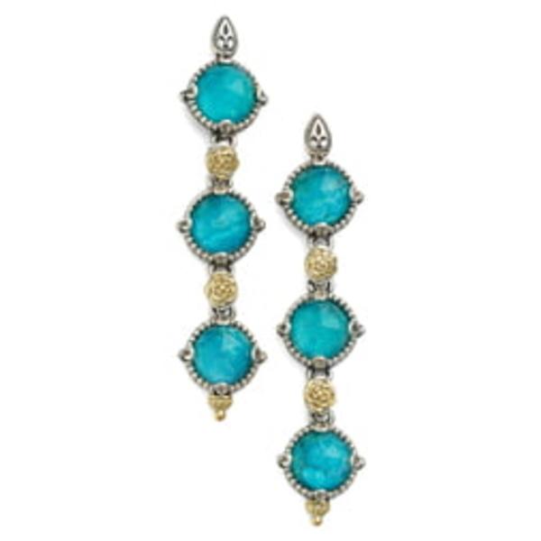 コンスタンティーノ レディース ピアス&イヤリング アクセサリー 'Iliada' Triple Drop Earrings Blue/ Green