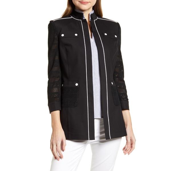 ミンウォン レディース ジャケット&ブルゾン アウター Piping Detail Cotton Blend Jacket Black/ White